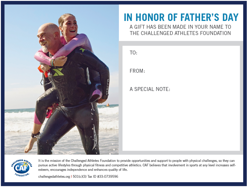 In Honor of Fathers Day Donation Certificate